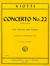 Giovanni Battista Viotti - Concerto No. 22 in A minor - Sheet Music - di-arezzo.com