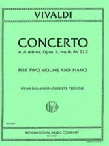 Concerto A minor op. 3/8 RV 522 VIVALDI Partition laflutedepan.com
