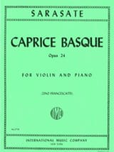 Caprice basque op. 24 SARASATE Partition Violon - laflutedepan