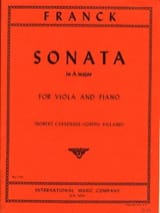 Sonata in A major - Viola César Franck Partition laflutedepan.com