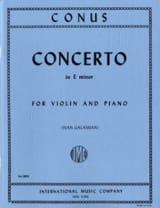 Concerto mi mineur Julius Conus Partition Violon - laflutedepan.com