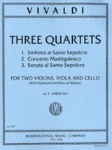 VIVALDI - 3 Quartets - Parts - Sheet Music - di-arezzo.co.uk
