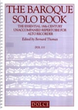 The Baroque Solo Book - Flûte à Bec Partition laflutedepan.com