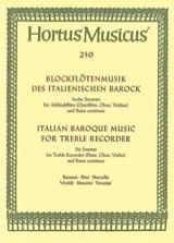 Blockflötenmusik des italienischen Barock - Altblockflöte u. Bc laflutedepan.com