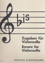 Bis : Zugaben – Cello Werner Thomas-Mifune Partition laflutedepan.com