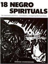 Bernhard Sieber - 18 Negro Spirituals - Violoncelle - Partition - di-arezzo.fr