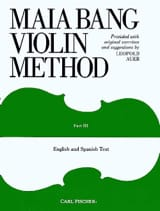 Violin method - Volume 3 Maia Bang Partition Violon - laflutedepan.com