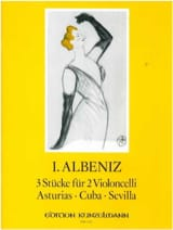 Isaac Albeniz - 3 pieces for 2 cellos - Sheet Music - di-arezzo.co.uk