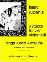 Isaac Albeniz - 3 pieces for 4 cellos - Sheet Music - di-arezzo.com