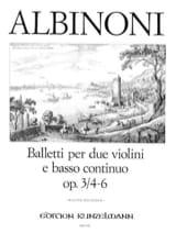 Tomaso Albinoni - 6 Baletti e Sonate op. 3/4-6 –Stimmen - Partition - di-arezzo.fr