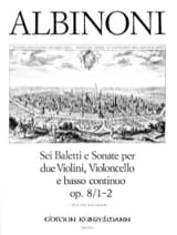 Tomaso Albinoni - 6 Baletti e Sonate op. 8/1-2 -Stimmen - Partition - di-arezzo.fr