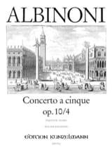 Tomaso Albinoni - Concerto a cinque op. 10/4 – Conducteur - Partition - di-arezzo.fr