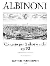 Concerto Op. 7 N° 2 Tomaso Albinoni Partition Trios - laflutedepan.com