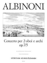 Concerto Op. 7 N° 5 Tomaso Albinoni Partition Trios - laflutedepan.com