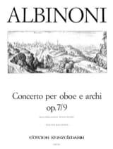 Tomaso Albinoni - Concerto per oboe op. 7 n° 9 - Partition - di-arezzo.fr