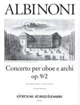 Concerto per oboe op. 9 n° 2 Tomaso Albinoni laflutedepan.com