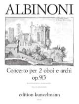 Tomaso Albinoni - Concierto para 2 oboi op. 9 n ° 3 - 2 Oboen Klavier - Partitura - di-arezzo.es