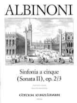 Tomaso Albinoni - Sinfonia A Cinque C-Dur Sonata II Op.2 / 3 For Streichorchester - Partitur - Sheet Music - di-arezzo.co.uk