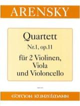Anton Stepanovitch Arensky - Quartett Nr. 1 op. 11 - Partition - di-arezzo.fr