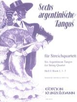 6 Argentinische Tangos, Heft 1 - Streichquartett laflutedepan.com