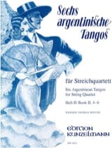 Werner Thomas-Mifune - 6 Argentinische Tangos, Heft 2 – Streichquartett - Partition - di-arezzo.fr
