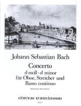 Konzert D-Moll, BWV 1059 - Oboe Klavier BACH laflutedepan.com