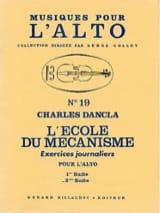 Charles Dancla - L'école du mécanisme - Volume 2 – Alto - Partition - di-arezzo.fr