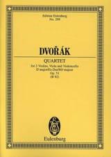 Quatuor à Cordes en Mib Majeur Op. 51 DVORAK laflutedepan.com