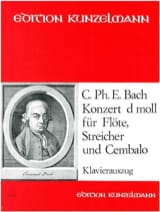 Carl Philipp Emanuel Bach - Concerto For Flute In D Minor - Sheet Music - di-arezzo.com