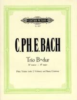 Carl Philipp Emanuel Bach - Trio en sib maj. (Wq 161) - Flöte Violine Bc - Partition - di-arezzo.fr