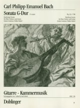 Carl Philipp Emanuel Bach - Sonate G-Dur Wq. 133 - Flöte Gitarre - Partition - di-arezzo.fr