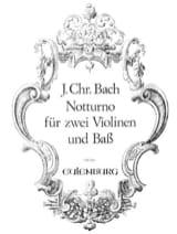 Johann Christian Bach - Notturno -2 Violinen u. Bass - Partition - di-arezzo.fr
