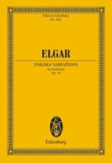 Edward Elgar - Enigma-Variationen - Conducteur - Partition - di-arezzo.fr