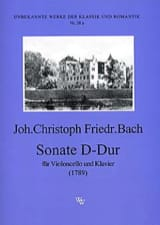 Johann Christoph Friedrich Bach - Sonate D-Dur - Partition - di-arezzo.fr