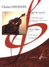 Allegro de Concert op. 11 Charles Davidoff Partition laflutedepan.com
