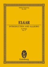 Edward Elgar - Introduktion und Allegro - Partition - di-arezzo.ch