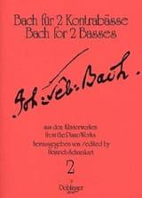 Bach für 2 Kontrabässe – Heft 2 - laflutedepan.com