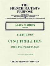 5 Préludes DEBUSSY Partition Flûte traversière - laflutedepan.com