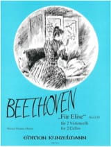 Ludwig Van Beethoven - Für Elise WoO 59 – 2 Violoncelles - Partition - di-arezzo.fr