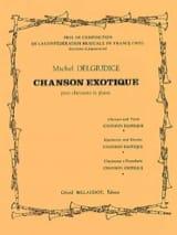 Chanson exotique Michel Delgiudice Partition laflutedepan.com