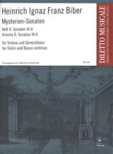Heinrich Ignaz Franz Biber - Mysterien-Sonaten, Heft 2, für Violine und Generalbass - Partition - di-arezzo.fr