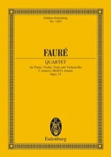 Gabriel Fauré - Klavier-Quartett N ° 1 - Driver - Sheet Music - di-arezzo.co.uk