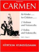 Carmen für Kinder, Heft 1 – 2 Violinen Cello - Stimmen laflutedepan.com