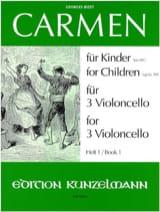 Carmen für Kinder, Heft 1 -3 Violoncello BIZET Partition laflutedepan