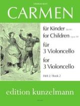 Carmen für Kinder, Heft 2 -3 Violoncello BIZET laflutedepan.com
