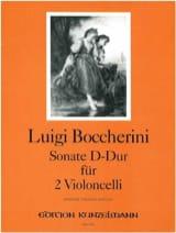 Sonate D-Dur - 2 Violoncelles BOCCHERINI Partition laflutedepan.com