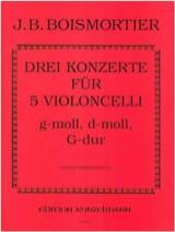 BOISMORTIER - 5つのバイオリンチェロのための3つの協奏曲 - 楽譜 - di-arezzo.jp