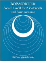 Joseph Bodin de Boismortier - Sonate E moll für 2 Violoncelli und Basso continuo - Partition - di-arezzo.fr