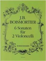 6 Sonaten für 2 Violoncelli BOISMORTIER Partition laflutedepan.com