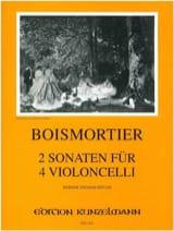 Joseph Bodin de Boismortier - 2 Sonates pour 4 violoncelles op. 34 / 3 - Partition - di-arezzo.fr